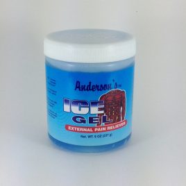 "Gel anderson ice gel azul""analgésico extremo"""