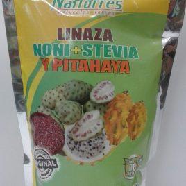 Linaza noni + Stevia y pitahaya digestivo y adelgazante natural