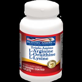 TRIPLE AMINO: L-ARGININE, L-ORNITHINE, L-LYSINE 60 capsulas