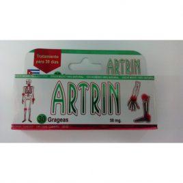Artrin Original Cubano Presentacion 30 tabletas Elimina dolores Blister