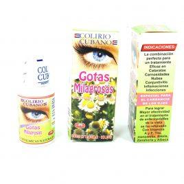 Colirio cubano Gotas milagrosas 100% originao uso oftalmológico